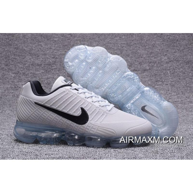 6c45bf95539bb Free Shipping Shop Nike Vapormax 2018 White Black Running Shoes ...