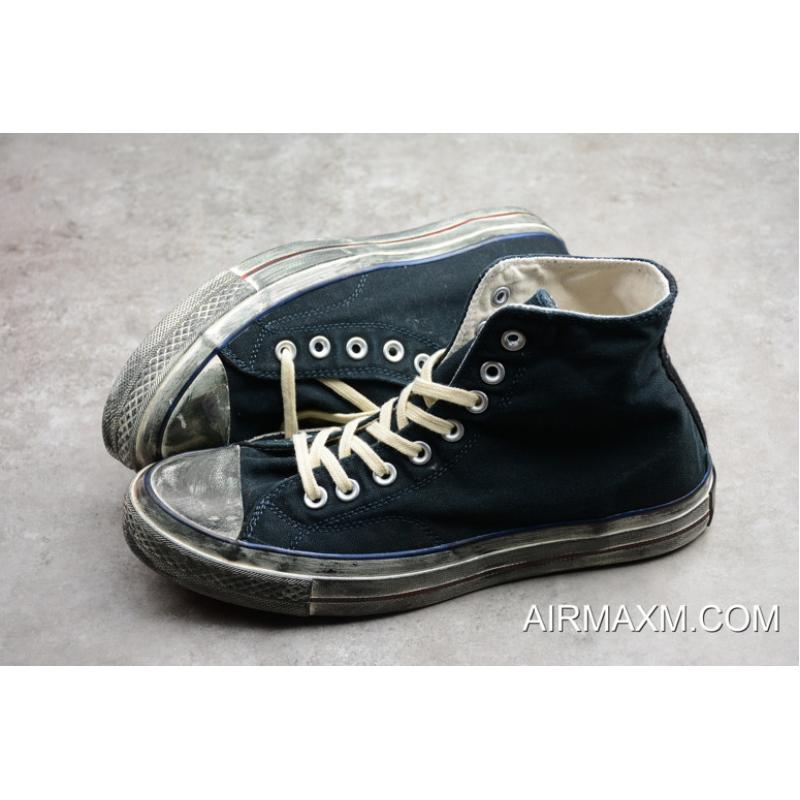 f3cd37c36adc ... Women Men Outlet Converse Chuck Taylor All Star Vintage Wash Black Blue  Red 159566C ...