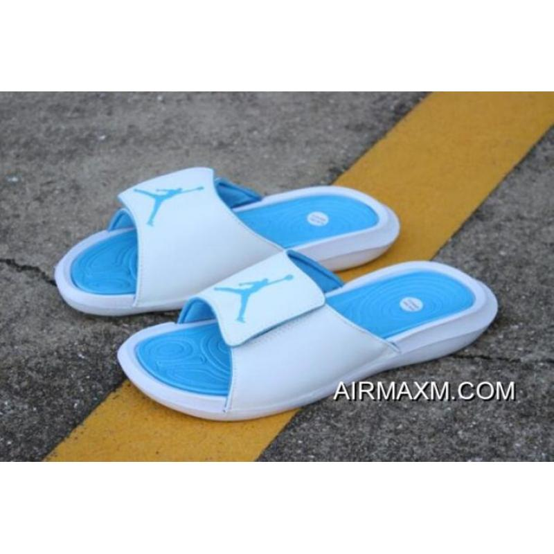 7784d4de492 New Air Jordan Hydro 6 BG White/Sky Blue Men's And Women's Size Sandals  881473 ...