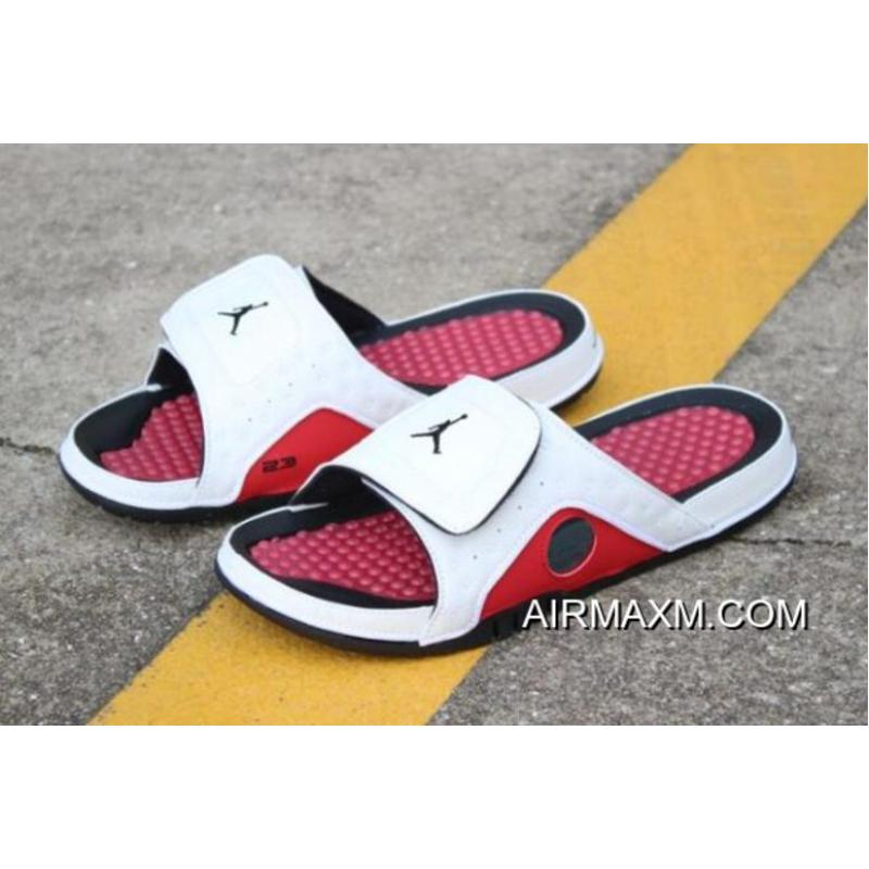 "sports shoes 91f93 f6bee Women/Men New Air Jordan Hydro 13 Retro ""Chicago"" White/Black-Gym Red  Sandals For Sale"