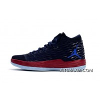 """Carmelo Anthony's Jordan Melo M13 """"Knicks"""" Midnight Navy/Gym Red-Blue New Year Deals"""