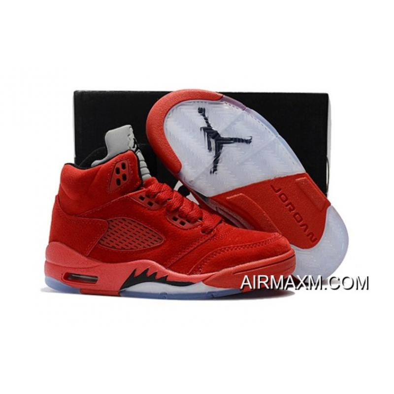 another chance 8572f f4887 Super Deals Kids Air Jordan 5 Grey Black Red, Price: $72.72 - Nike ...