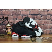 Best Kids Air Jordan 6 Black Red White