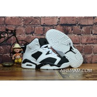 Kids Air Jordan 6 Black White Online