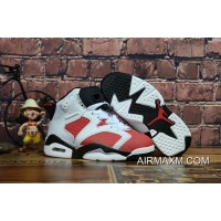 For Sale Kids Air Jordan 6 Black White Red