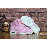 Top Deals Kids Air Jordan 6 Pink White