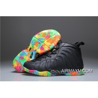 Kids Nike Air Foamposite One Black Colorful Discount