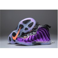 Kids Nike Air Foamposite One Black Purple Orange Discount