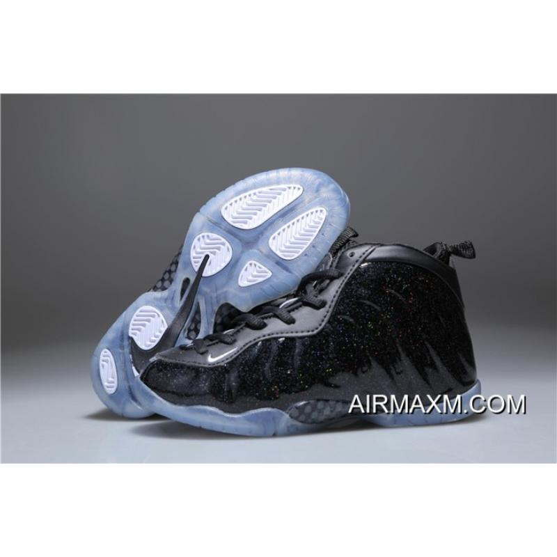 sports shoes 6f116 d77be Kids Nike Air Foamposite One Black Shine For Sale