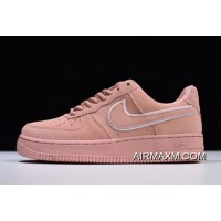 Women New Release WMNS Nike Air Force 1 '07 LV8 Suede Red Stardust Dragon Red AA1117-601