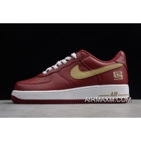 """New Release Nike Air Force 1 Low Premium """"LeBron James"""" Cavs 306353-671"""