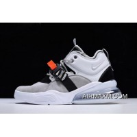 Men's Nike Air Force 270 Wolf Grey/Dark Grey AH6772-002 New Style