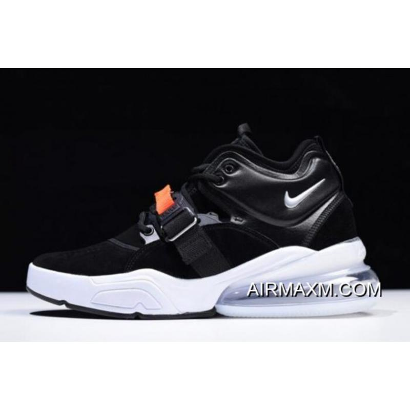 "e8b8b73ce55f Discount Nike Air Force 270 ""Metallic"" Black Metallic Silver-White AH6772-  ..."
