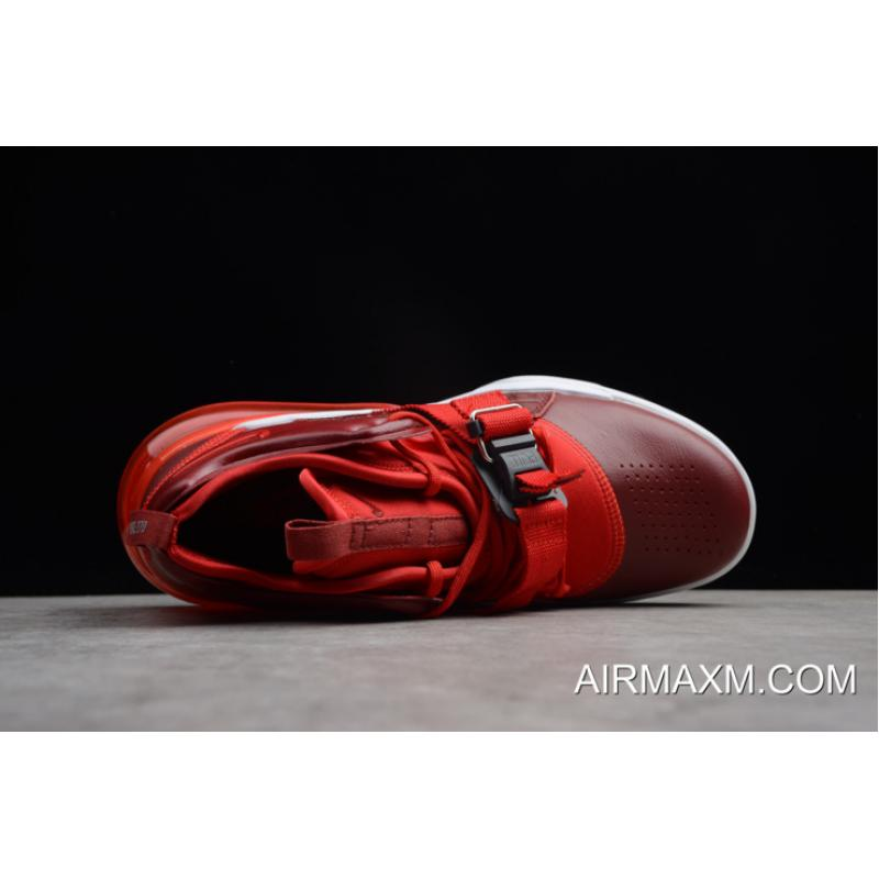 """6e4ec0b11508cb Free Shipping Nike Air Force 270 """"Red Croc"""" Team Red Gym Red White ..."""