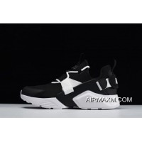 Men's And Women's Nike Air Huarache City Low Casual Shoes Black/White AH6804-002 Top Deals