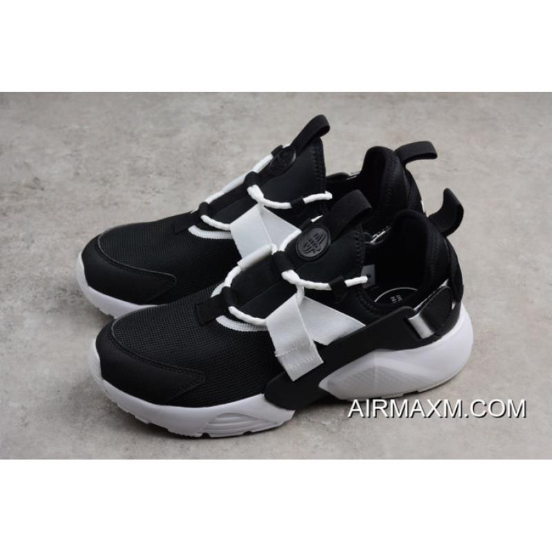 f11b1f47fd3e ... Men s And Women s Nike Air Huarache City Low Casual Shoes Black White  AH6804-002 ...