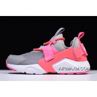 Women's Nike Air Huarache City Low Cream Grey/Sun Red-White Pink AH6804-007 Outlet
