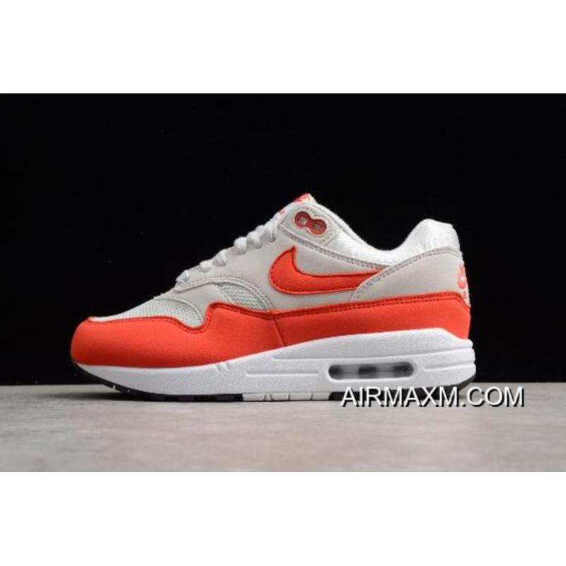 "Women Online WMNS Nike Air Max 1 ""Habanero Red"" Vast Grey Habanero Red ... 14521d7d9d"