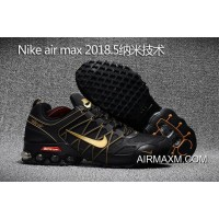Nike Air Max 2018 Black Gold Running Shoes Best