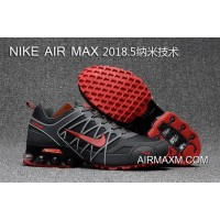 New Release Nike Air Max 2018 Gray Black White Red Running Shoes