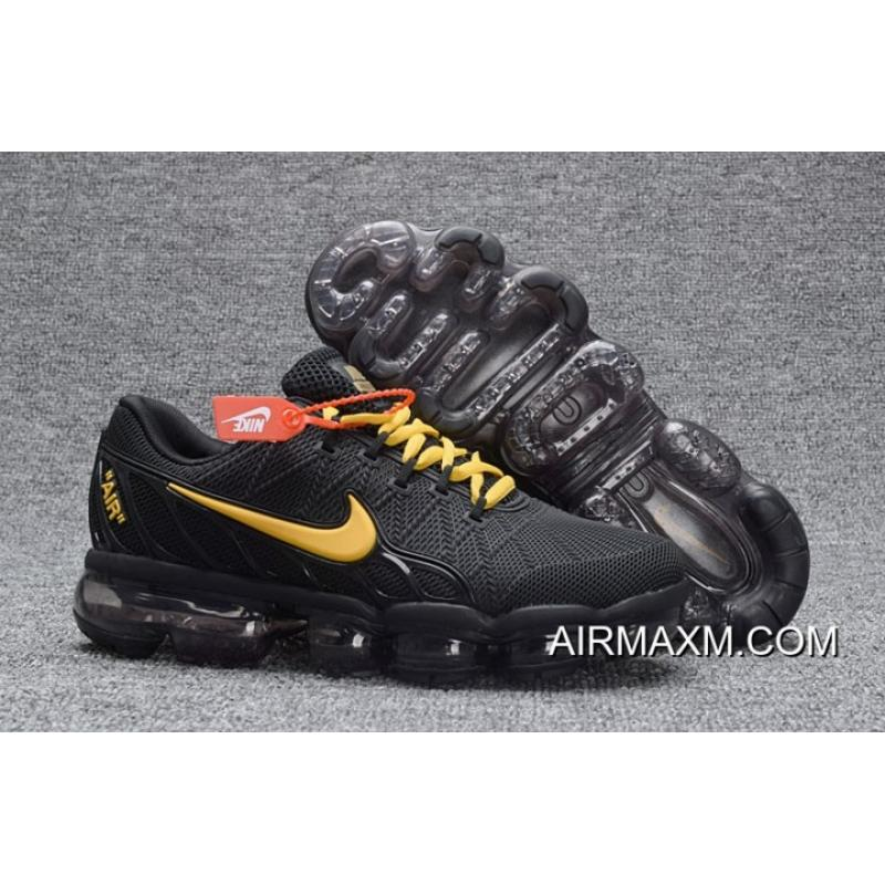 competitive price 170d0 82964 Nike Air Max 2018 Leather Black Gold Running Shoe Discount
