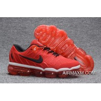Free Shipping Nike Air Max 2018 Leather Black Red Running Shoe