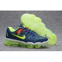 Free Shipping Nike Air Max 2018 Leather Blue Green Running Shoe