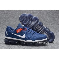 Discount Nike Air Max 2018 Leather Blue White Running Shoe