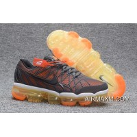 Latest Nike Air Max 2018 Leather Gray Orange Running Shoe