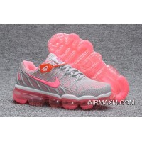 Big Deals Nike Air Max 2018 Leather Gray Pink Women Shoes