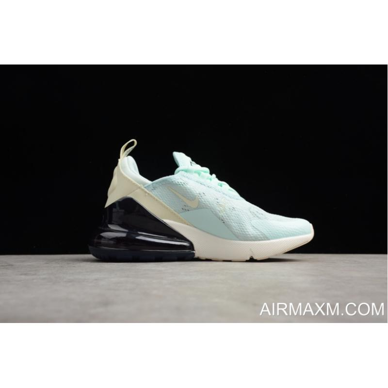 2e87bf555576 ... New Style Women s Nike Air Max 270 Mint Green Black-White Running Shoes  AH6789 ...