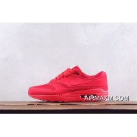 Super Deals Men Nike Air Max 1 Premium Red Running Shoes SKU:33712-394