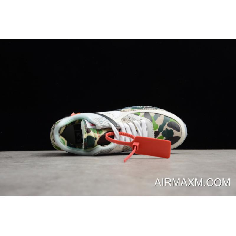 "ac8404c46fa5f Off White X Nike Air Max 90 ""Camo"" Sail White-Muslin Men s And ..."