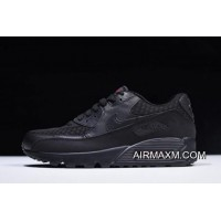 Nike Air Max 90 Essential Black/Metallic Silver-Red 537384-084 Where To Buy