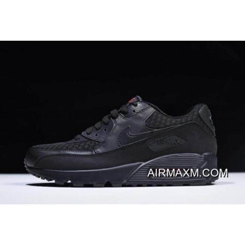 2aad4386d2 Nike Air Max 90 Essential Black/Metallic Silver-Red 537384-084 Where To ...