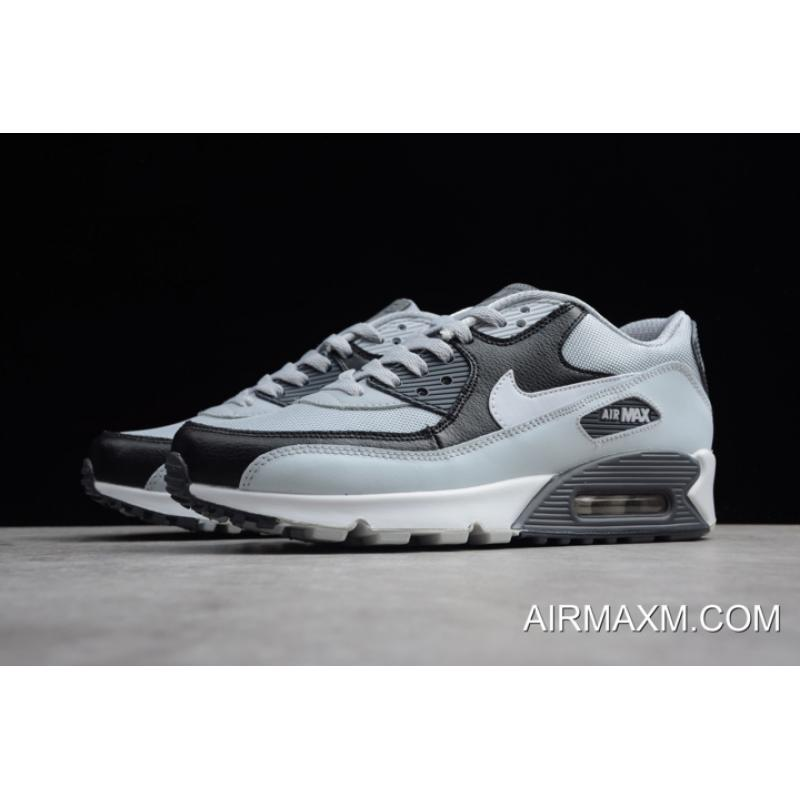 hot sale online 913a4 e16d2 ... WomenMen New Style Nike Air Max 90 Essential Wolf GreyWhite-Pure ...