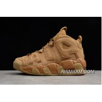 Women Authentic Nike Air More Uptempo SE GS Flax/Gum 922845-200