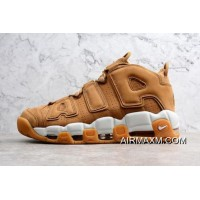 "Nike Air More Uptempo PRM ""Wheat"" Flax/Flax-Gum Light Brown AA4060-200 New Release"