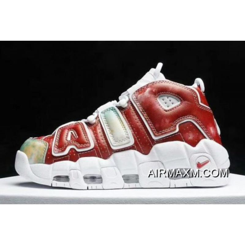 """5aa1f28930 For Sale Nike Air More Uptempo """"United Kingdom"""" Amarillo/Speed Red-Neptune  ..."""