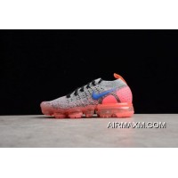 Women Nike WMNS Air VaporMax 2.0 Grey/Ultramarine-Hot Punch Running Shoe 942843-104 Buy Now