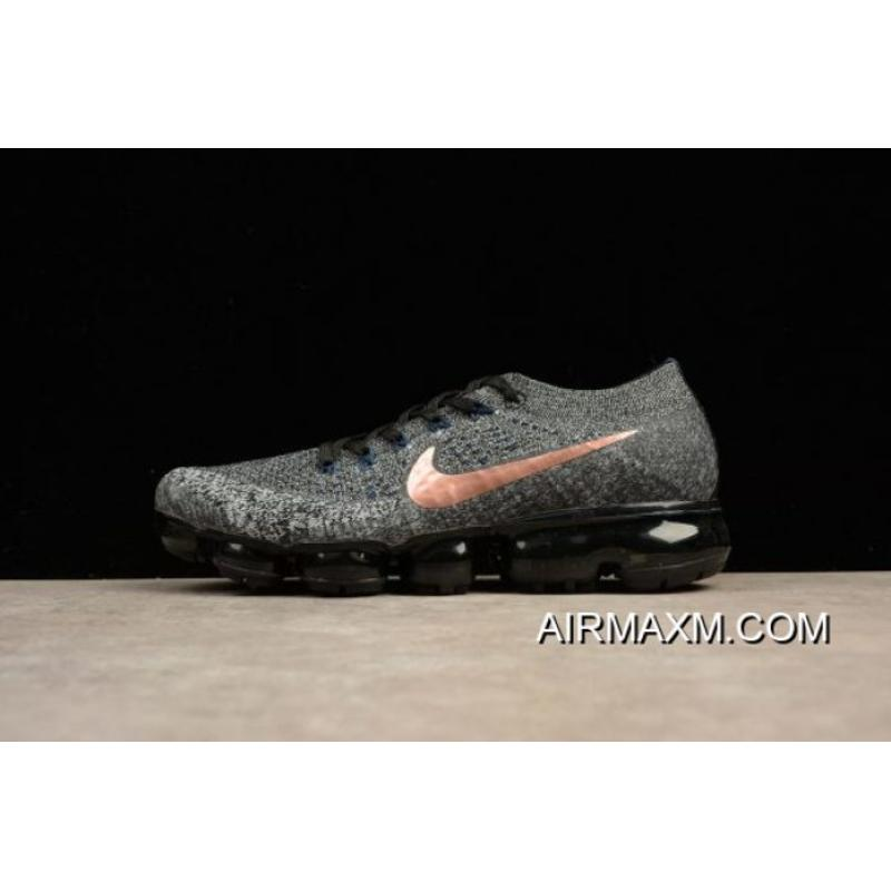 "pretty nice d1c2d 4162c New Style Nike Air Vapormax Flyknit ""Explorer Dark"" Metallic Copper  Swooshes 849558-010 ..."