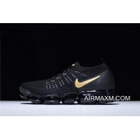 Nike Air VaporMax 2.0 Flyknit Black Gold Men's Running Shoes Buy Now