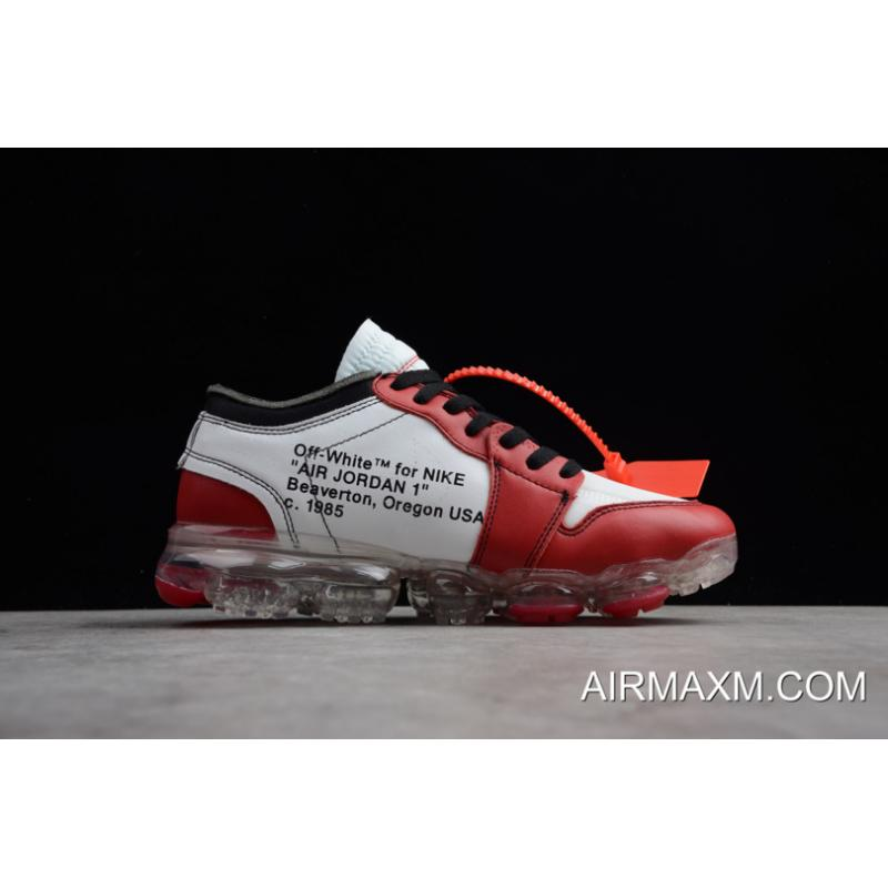 "photos officielles 94ed6 17e66 Off-White X Nike Air VaporMax X Air Jordan 1 ""Chicago"" White/Black-Varsity  Red AA3830-003 New Release"