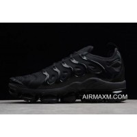 "Nike Air VaporMax Plus ""Triple Black"" Black/Dark Grey 924453-004 New Style"