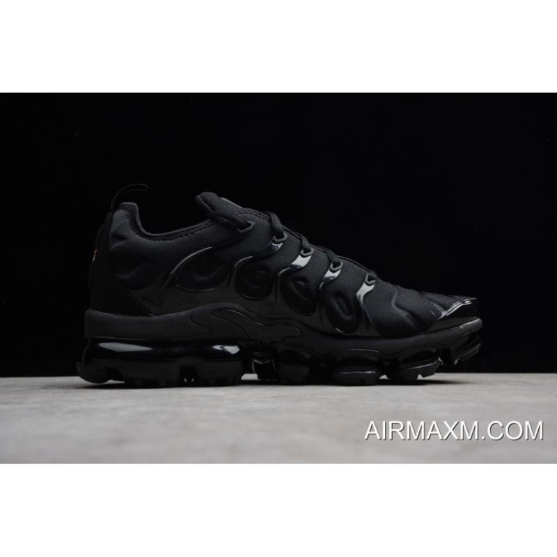 bbe2f5fd472 Men s Shoes Athletic Shoes NIKE AIR VAPORMAX PLUS 924453-004 TRIPLE BLACK  BLACK DARK GREY MENS