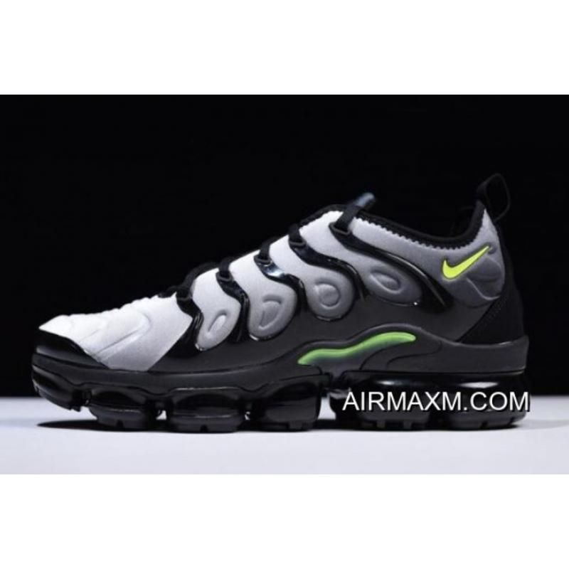 c929e6c0e0e45 Tax Free Nike Air VaporMax Plus Black Volt-White 924453-009 ...