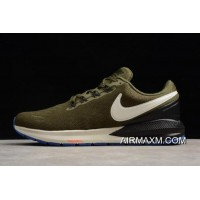 Outlet Nike Air Zoom Structure 22 Olive/Black-White AA1636-300