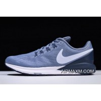 Outlet Nike Air Zoom Structure 22 Navy Blue/White AA1636-401 Free Shipping