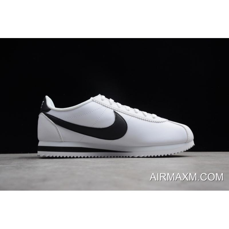 watch ee4f0 60bfe ... Women Men Nike Classic Cortez Leather White Black 807471-101 Discount  ...