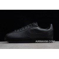 Discount Nike Classic Cortez Leather Black/Black-Anthracite Men's Size 749571-002 Free Shipping